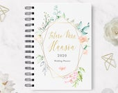 Wedding Planner 29 Hardcover Coil Bound Tabbed Customized Wedding Planner, Planner for Bride, Wedding Organizer Real Foil Option