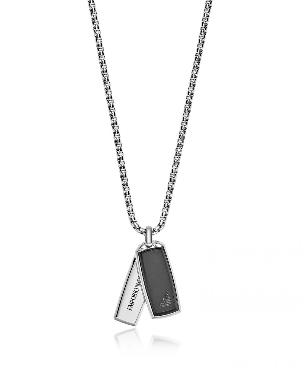Emporio Armani Men's Necklaces Signature Rectangular Pendants Men's Necklace