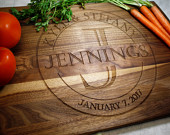 Personalized Cutting Board Wedding Gift Engagement Gifts for Mom Custom Cutting Board Personalized Kitchen Kitchen Gift Fiance