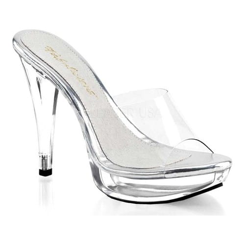 Women's Fabulicious Cocktail 501, Size: 10 M, Clear/Clear