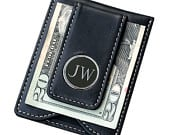 Personalized Leather Money Clip and Wallet Combo Groomsmen Gift Best Man Gift Fathers Day Gift Engraved Monogrammed for Free