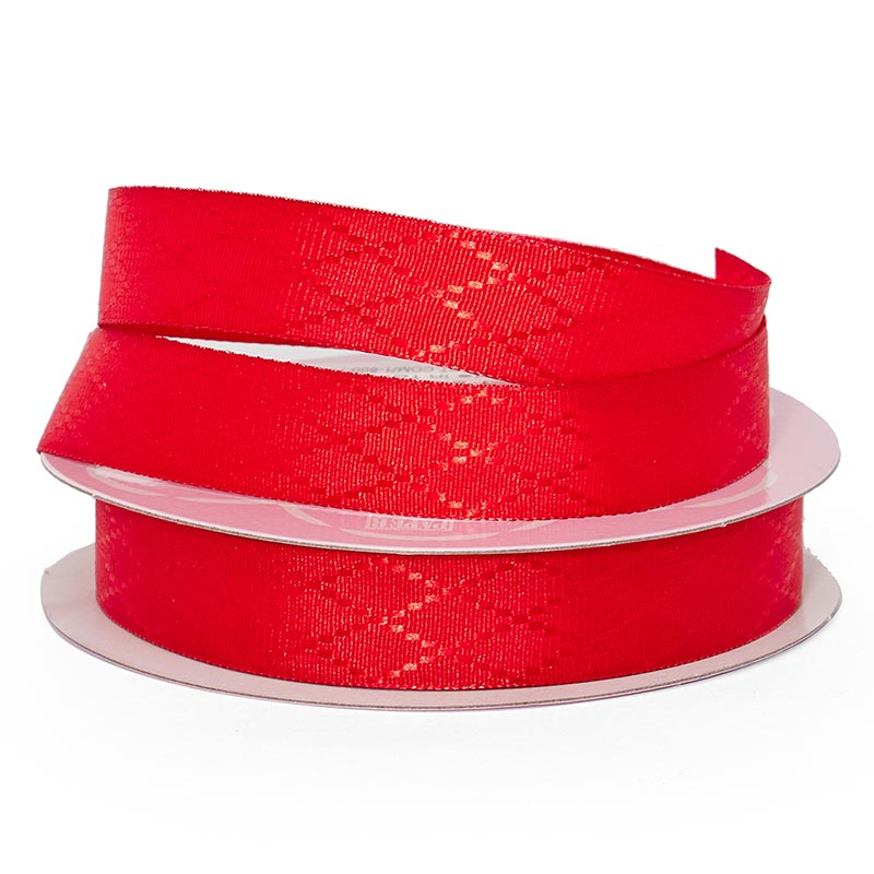 "Red Diamond Detail Satin Ribbon - 5/8"" X 25yd - Grosgrain by Paper Mart"