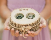 RING BOX Ring Pillow Personalized WOOD Ring Holder Ring Bearer Box Wood Ring Box Rustic Country Wedding Ring Pillow Alternative