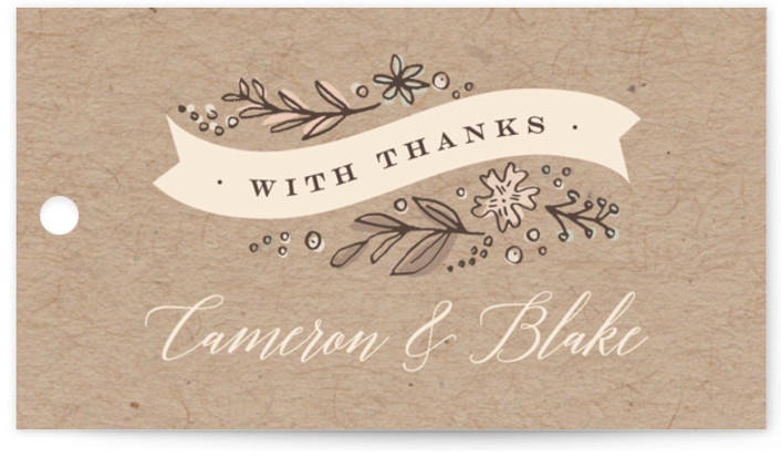 Rustic Banner Wedding Favor Tags
