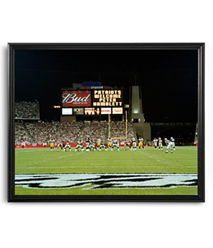Personalized Nfl Scoreboard New England Patriots 16X20 Canvas