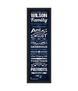 Personalized New England Patriots Nfl Family Rules Framed Art