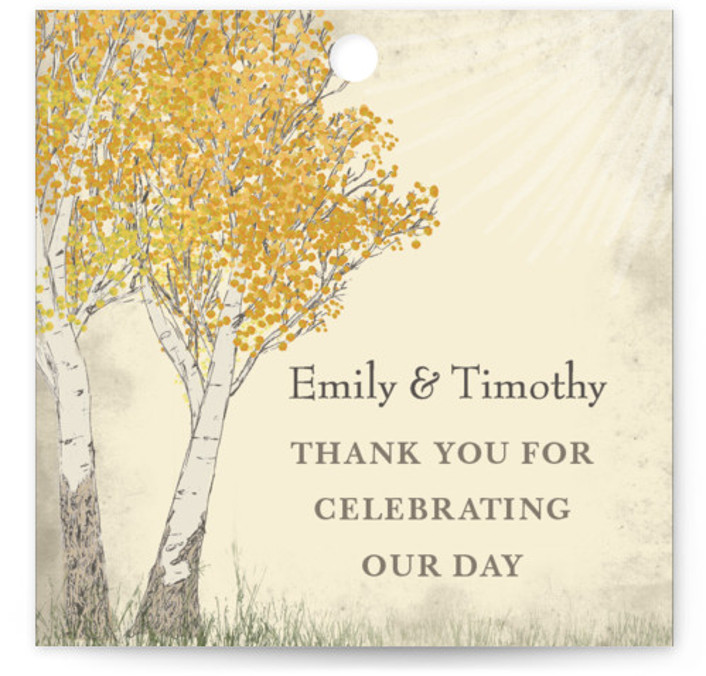 Fall Tranquility Wedding Favor Tags