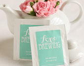 Personalized Wedding Tea Bag Favors, Personalized Wedding Favors, Bridal Party Gifts, Edible Wedding Favors, Bride and Groom, Couples Gift
