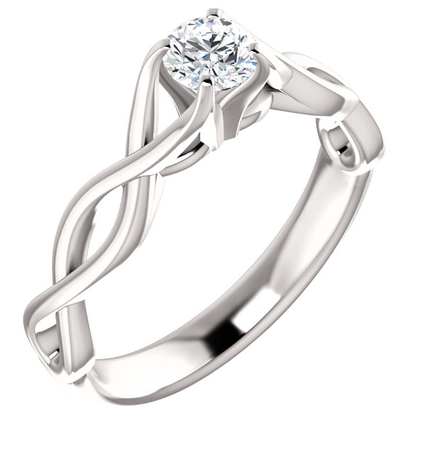 1/3 Carat Round Diamond Infinity Engagement Ring