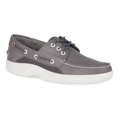 Men's Sperry Top-Sider Billfish 3-Eye Boat Shoe, Size: 11.5 M, Grey Full Grain Leather