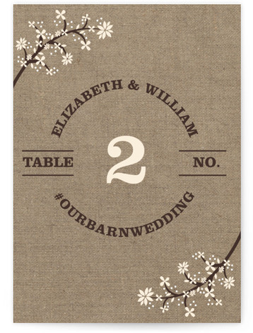 Burlap Bliss Table Numbers