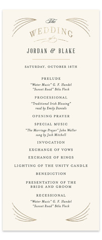 Arched Wedding Foil-Pressed Wedding Programs