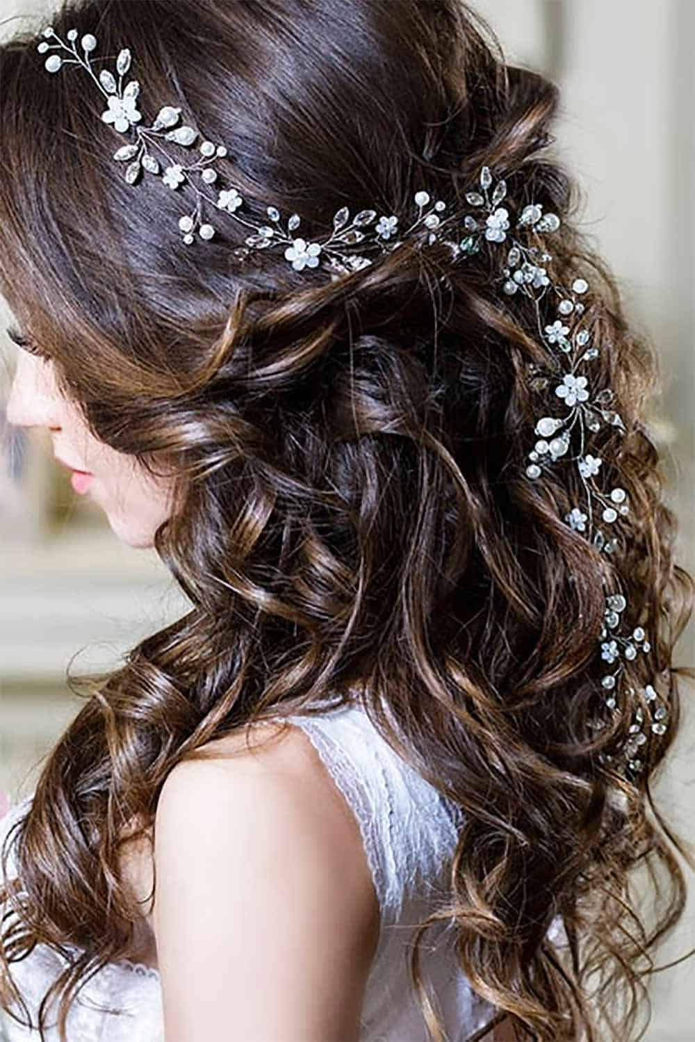 Bridal wedding hair vine. In lengths for short, medium, or long hair styles. Prices start at $13.50. Get more info or buy in the My Online Wedding Help products section.