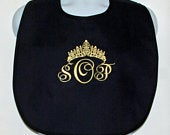 Adult Bib, Gag Gift For Beauty Pageant Contestant, Prom, Bridal Wedding, Clothing Protector, Makeup Bib, With Tiara, Ships Today AGFT 792
