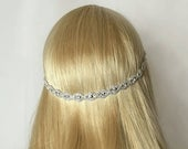 Silver Wedding Headband, Bridal Headpiece, Rhinestone Headband, Hair Tiara, Flower Girl,Hair Jewelry, Bridesmaid, Hair AccessoryHA039