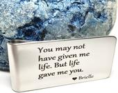 For Step Dad Step Father Money Clip Step Dad Gift Dad From Daughter Adoption Gift Step Father of Bride 1st Fathers Day
