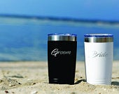 Bride and Groom Tumblers Wedding Gift for the Couple Engagement Present Wedding Shower Cups Stainless Steel Glasses Marriage
