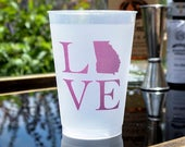 State Love Cups, State Pride Cups, Custom State Cups, Personalized Frost Flex Cups, Plastic Party Cups, Engagement Party Cups, Wedding Cups