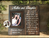 Mother of the Bride Gift Ideas Mother Daughter Wedding Photo Picture Frame Gift From Daughter Personalized Wedding Rustic Wedding