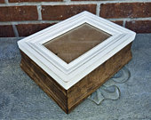 5x7 Photo Frame Box, Picture Box, Keepsake Gift, Mothers Day Gift, Photograph Storage, Rustic Farmhouse Box, Handmade Personalized Gift