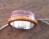 Violin string ring for men, Titanium wedding band for women, 7mm band, Musicians gift, Wood rings, Couple bands, Jewelry handmade unisex