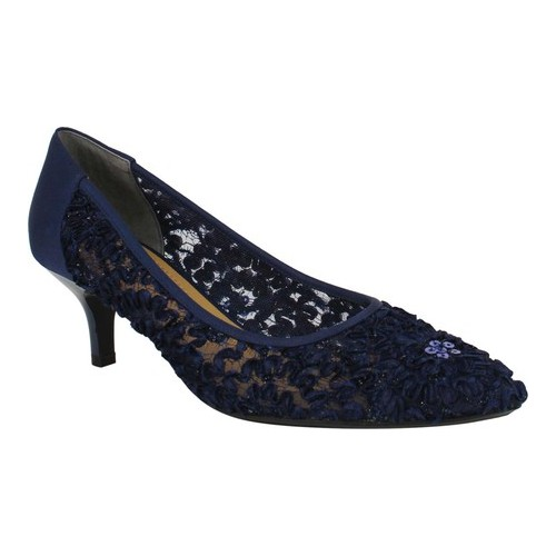 Women's J. Renee Daray Pointy Toe Pump, Size: 8 N, Navy Lace/Fabric