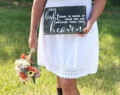 Wedding Memorial Sign Wood Wedding Sign This Light Burns in Honor Wedding Reception Sign Rustic Wedding Sign Watching From Heaven