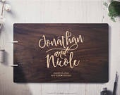 Unique Wedding Guestbook Rustic Wedding Guest book Wood Wedding Guest book Wood Custom Engraved Guest Book Personalized Guest Book