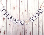 THANK YOU banner, thank you bridal shower thank you banner, wedding thank you banner, thank you sign,wedding photo prop, engagement banner