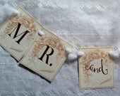 Print Your Own Vintage Wedding Banner: Mr. and Mrs.