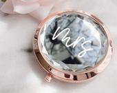 Bride Mirror Compacts Mrs. Gifts Gem Compact Mirrors Bridal Shower Gift for Bride To Be Gift Ideas Wedding Gift for Bride (EB3341MRS)