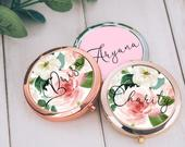 Bridesmaid Gift Set Bachelorette Party Favor Bridesmaid Proposal Personalized Compact Mirror Custom Mirror Engraved Mirror Bridesmaid Mirror