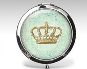Personalized Compact Mirror Crown Accessory Magnifying Mirror Birthday Gift Personalized Gift Party Favor C27