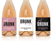 Drunk in Love, Just Drunk Wine Labels, Champagne Labels, Bachelorette Party Favors, Bachelorette Party Decorations