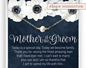 Mother of the Groom Necklace, Pearl Necklace, Gift from Bride, Gift for Mother in Law, MIL Gift, Gift from Husbands Wife, Wedding Jewelry