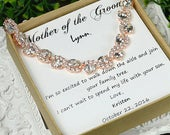 Mother of the Groom gift bracelet Mother of the Bride gift Mother in law wedding gift future mother in law gift wedding gift (CUSTOM COLOR )