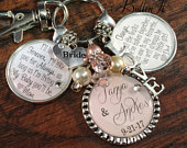 BRIDE Gift, Wedding gift for BRIDE from MOM, wedding bouquet charm, daughter wedding gift, mother daughter, bridal shower gift, keepsake