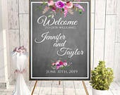 Large chalkboard, welcome to our, chalk wedding sign, love story sign, floral chalkboard, chalkboard reception, DIY chalkboard reception,