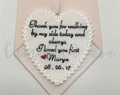 Father of Bride Tie Patch Bride to dad Father Gift Wedding Tie Patch Thank you for walking custom tie Patch