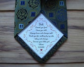 Dad Tie patch / Suit Label, Personalized Tie Patch / Father of the Groom, Thank You Dad Label, best man, stepdad, iron on tie patch
