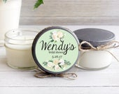 Set of 12 4 oz. Soy Candles / Personalized Wedding Favors / Mint / Floral / Donation to Animal Rescue with Every Purchase