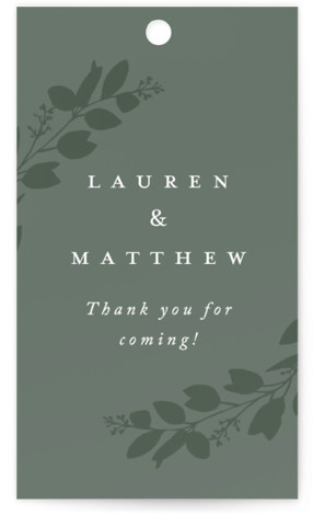 Falling Branch Wedding Favor Tags