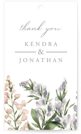 Spring Wildflowers Wedding Favor Tags