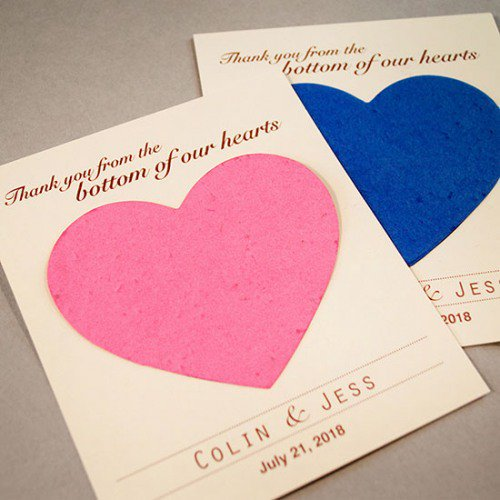 Personalized Plantable Seed Card Favors
