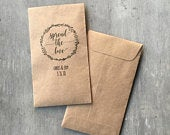 Custom 100% Recycled Brown Kraft Personalized Seed Packets Wedding Favors Custom Text or Graphic Assembled FREE U. S. SHIPPING