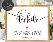 Outdoor Wedding Signs, Wedding Blanket Sign, Winter Wedding Signs, DIY Wedding Signs, Winter Wedding Favor, To Have and To Hold, Printable