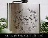 NEW Bridesmaid Proposal Gift Personalized Bridesmaids Flasks Flask for Women F001