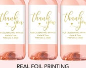 Thank You Mini Wine Bottle Labels, Wedding Mini Wine Favor Labels, Wedding Wine Labels, Wedding Wine Favors, Wedding Thank You Favor Label