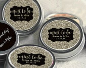 70 Mint To Be Faux Glitter Wedding Mint Tins Personalized Wedding Favors Wedding Decor Engagement Party Favors Mint To Be
