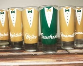 Wedding Shot Glasses Wedding Favors Personalized Shot Glasses Take a Shot Bachelor Party Shot Glasses Custom Groomsmen Proposal